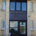 Laminētas PVC durvis un logs
