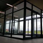 Alumīnija vējtveris, bidāmas automātiskās durvis, lielgabarīta konstrukcija