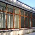 Lielgabarīta, stiklota PVC siena